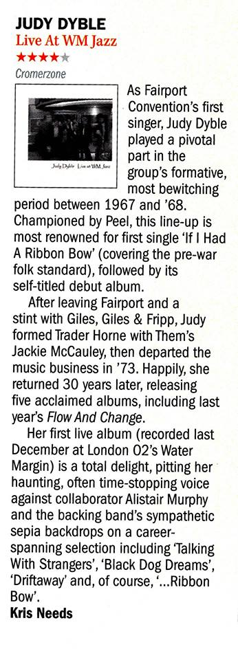 Shindig Magazine review by Kris Needs